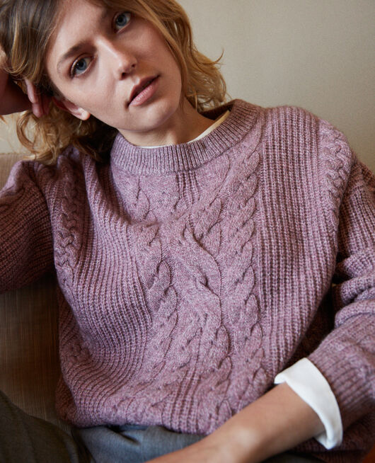 Cable-knit jumper HUSHED VIOLET