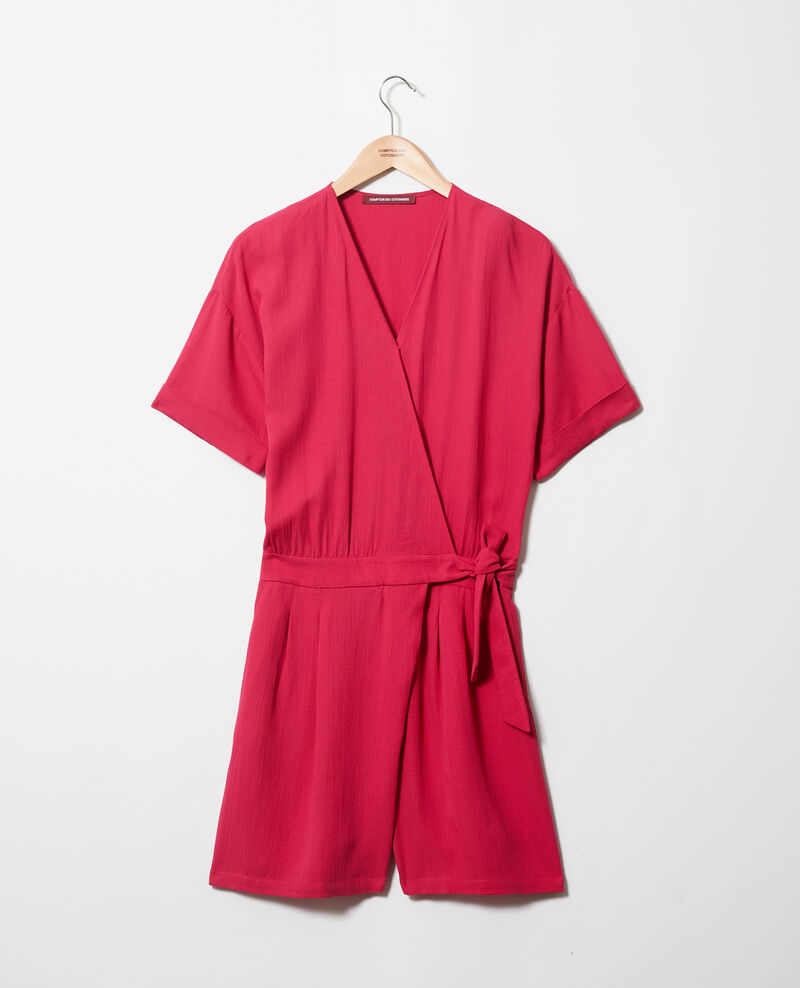 Wrap-over playsuit Fushia Issife