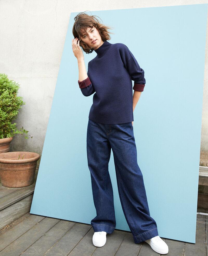 Double-sided merino wool jumper Blue Gibbon