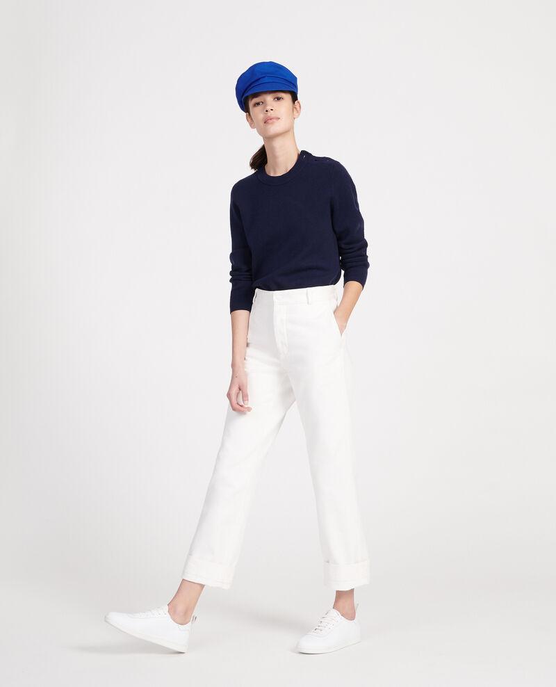Classic wool jumper Maritime blue Logan
