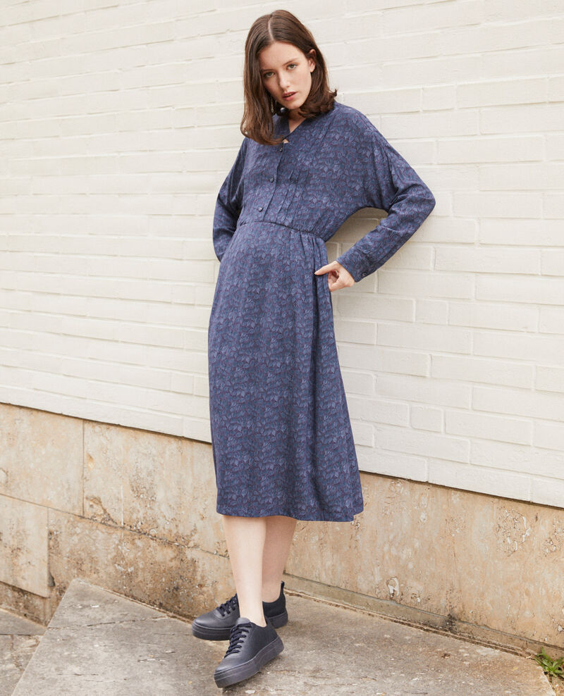 Printed dress Blue Geviana