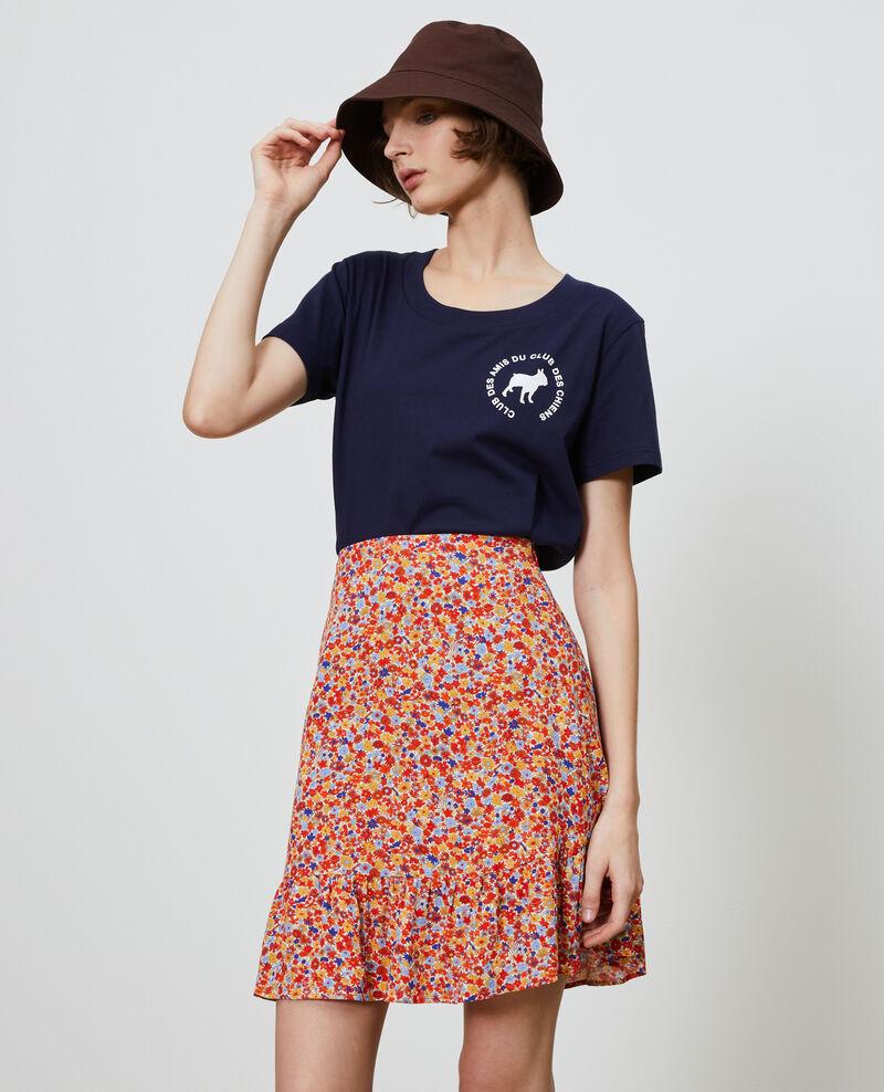 Cotton T-shirt Maritime blue Nyer