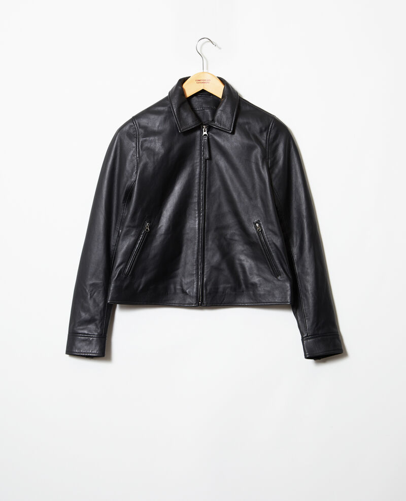 Smooth leather jacket Noir Irtylle