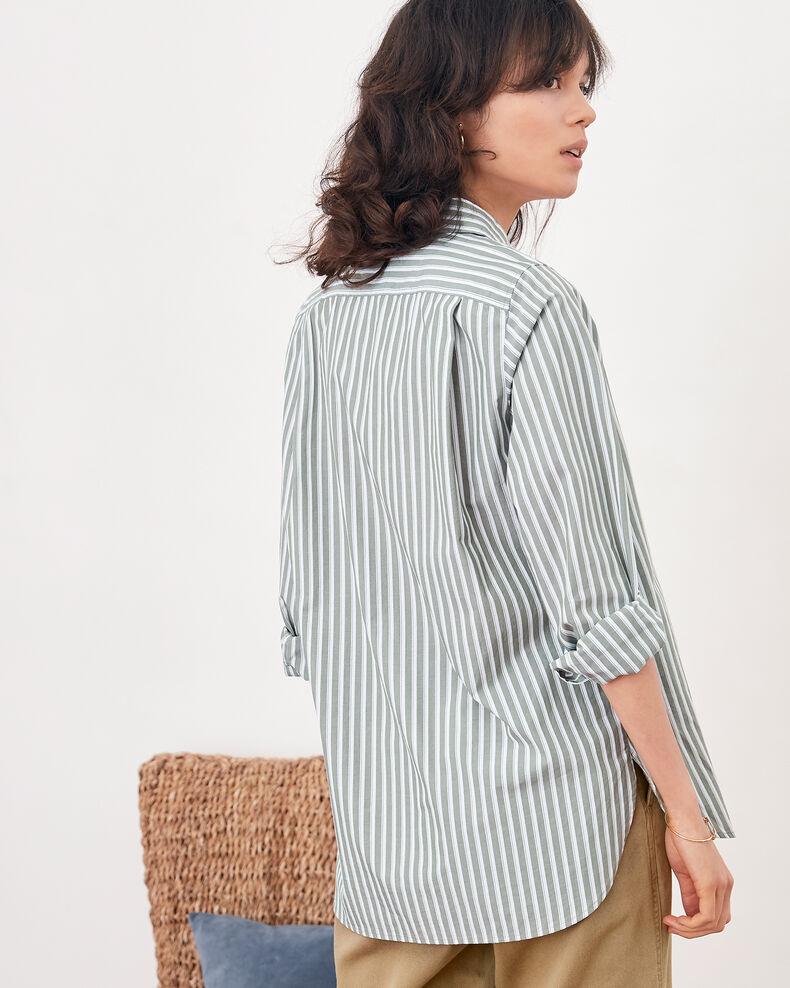 Striped oversize shirt Sage stripes Fregate