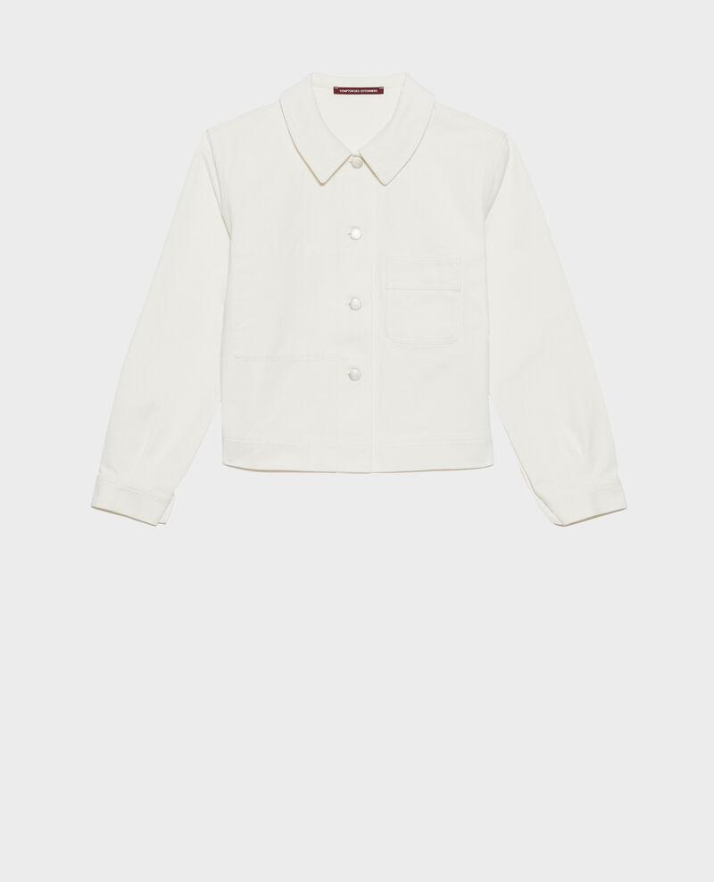 Short cotton jacket Optical white Nana