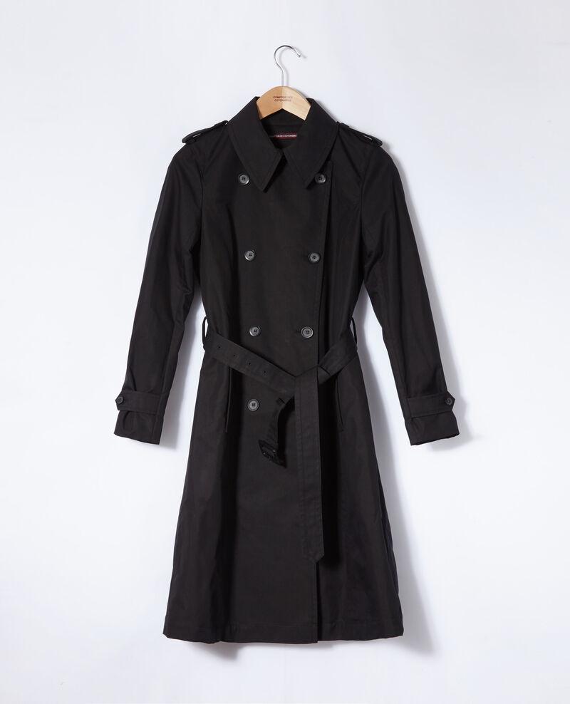 Mid-length trench coat Black Gabien