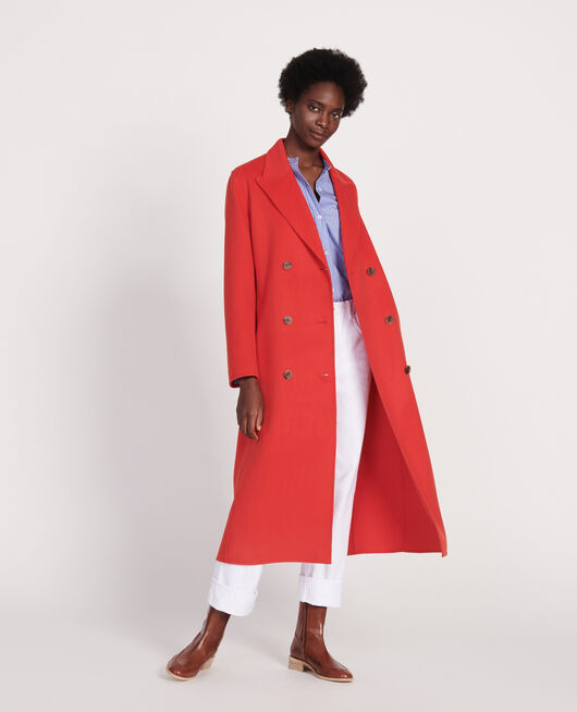 Long coat FIERY RED