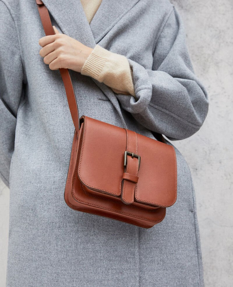 Leather bag Camel Isace