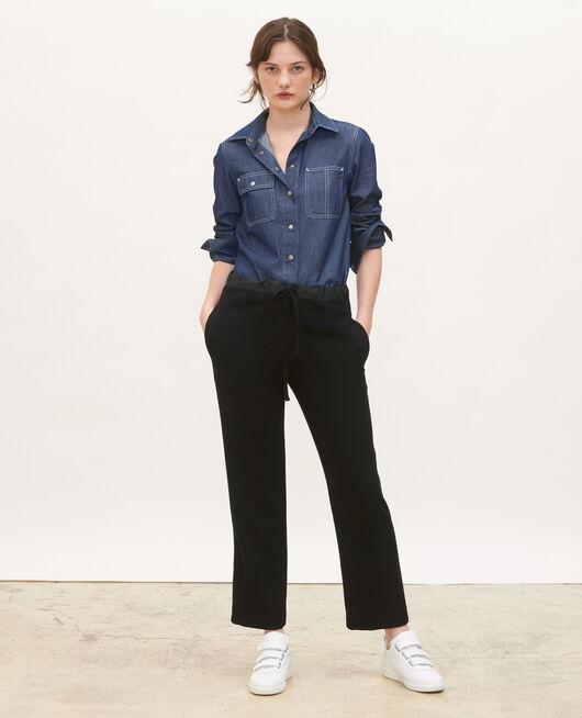 Denim shirt with asymmetric pockets DENIM BRUT