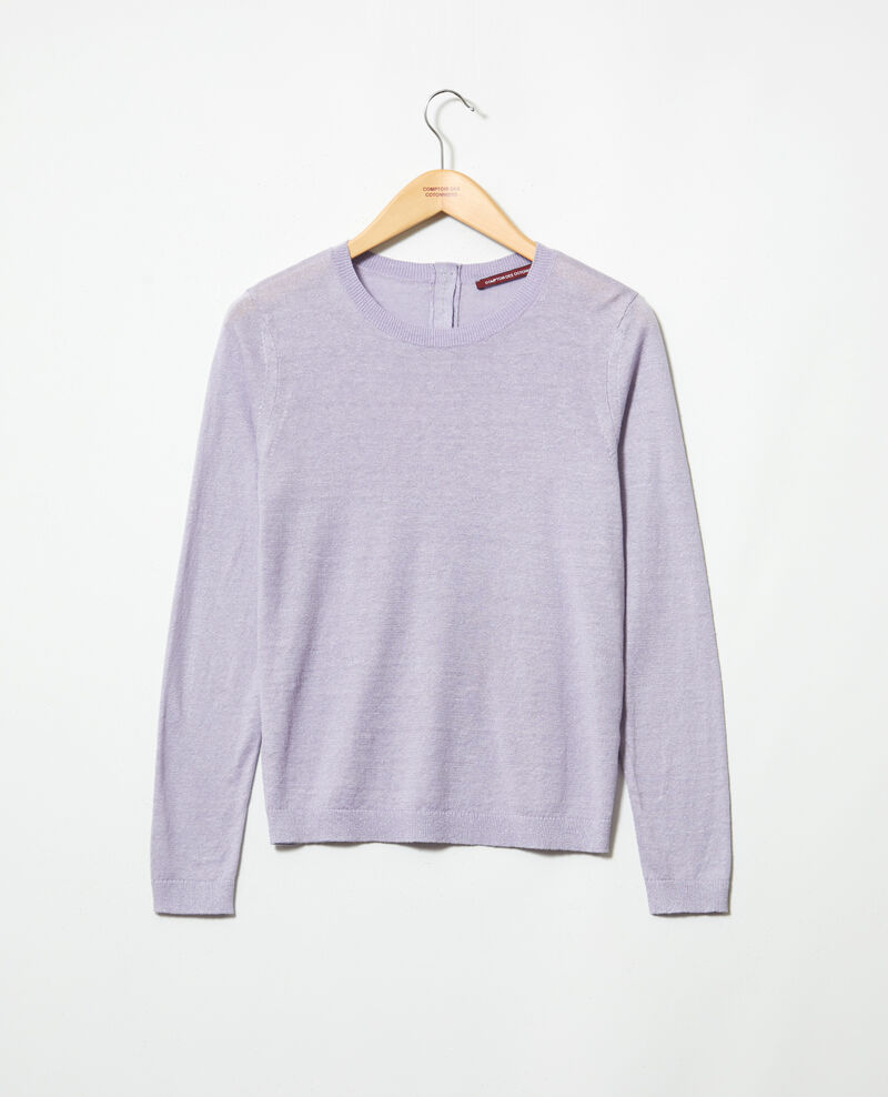 3D linen jumper Purple Isisa