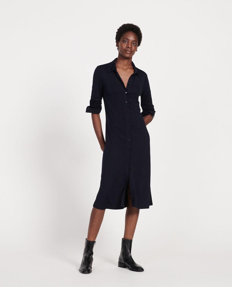Silk dress Maritime blue Lulia