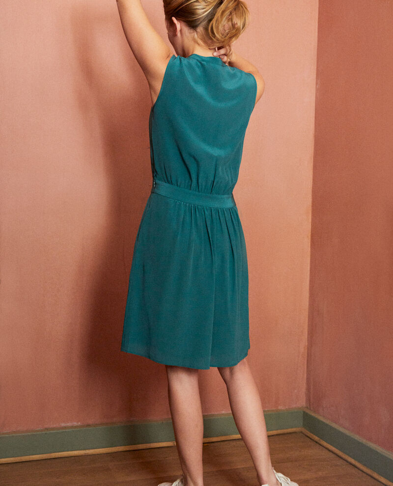 Silk dress with lace shirt front Mediteranea Jelegrino