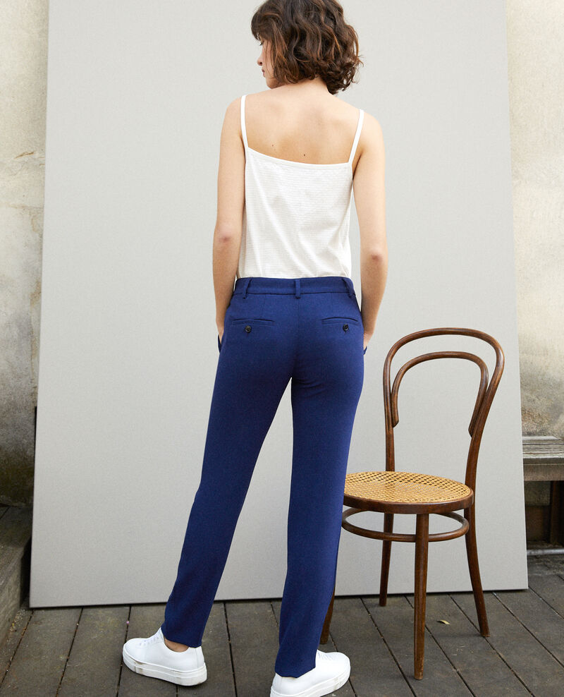 Suit-style trousers Medieval blue Gersende