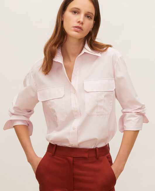 Oversize cotton men's shirt  PRIMROSE PINK