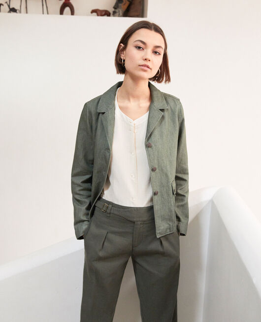 Suit-style jacket CHENG OLIVE