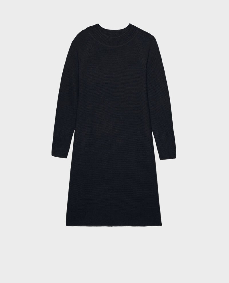 3D cashmere flared jumper dress Night sky Malroy