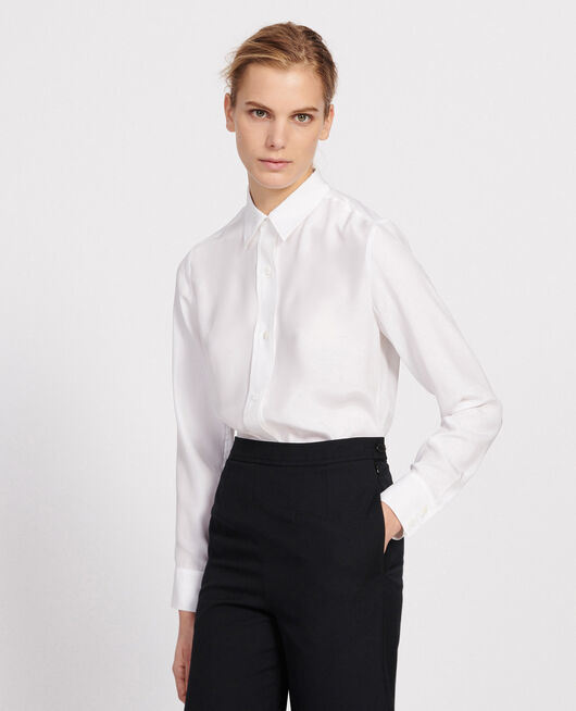 Silk shirt OPTICAL WHITE
