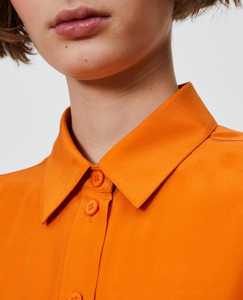 SIBYLLE - Silk boyfriend shirt Harvest pumpkin Noriges