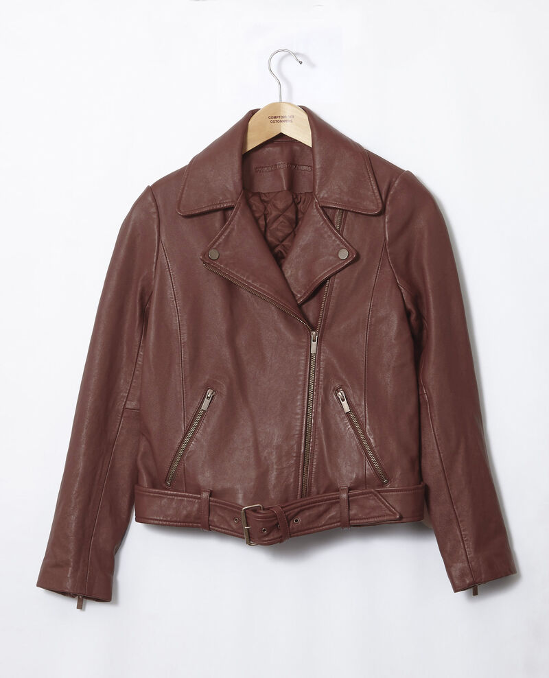 Timeless leather jacket  Decadente chocolate Galaxie
