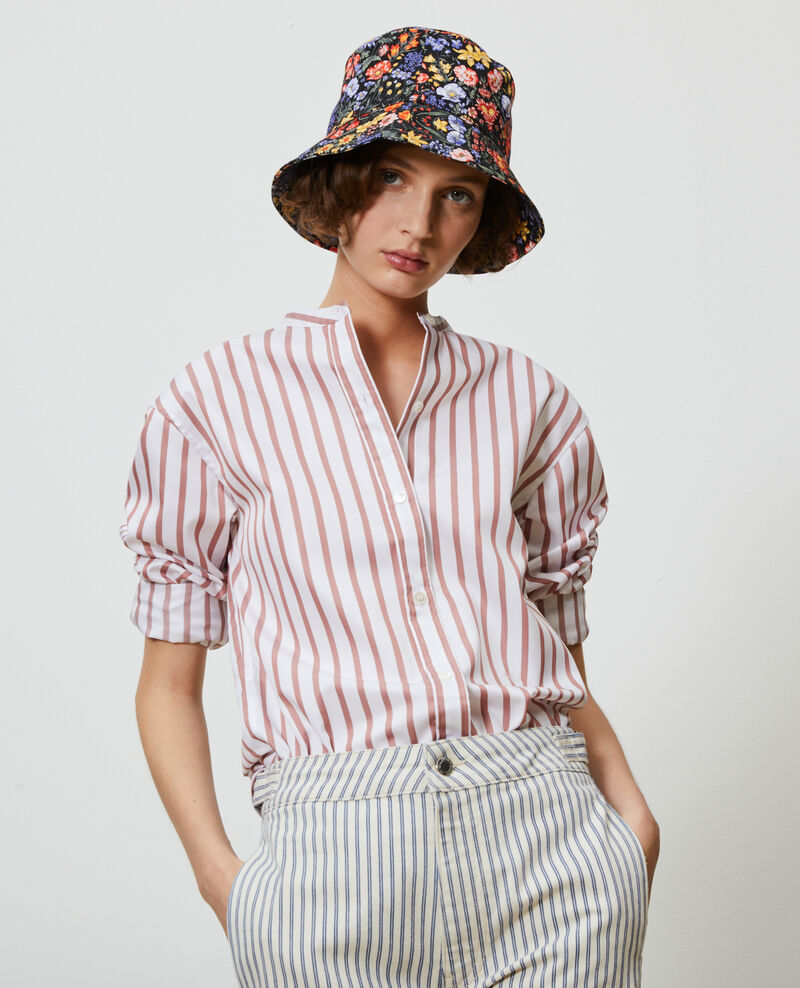 Printed cotton bucket hat Prairie black beauty Nooker