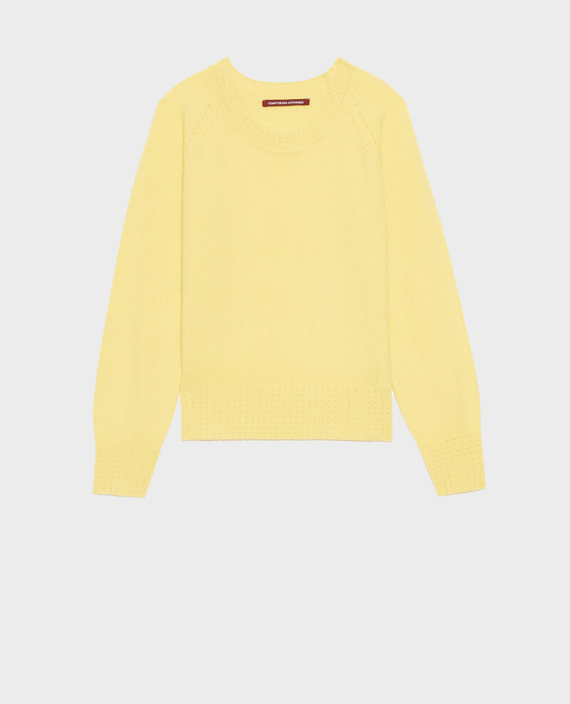 Round-neck cashmere jumper Lemon drop Nogna