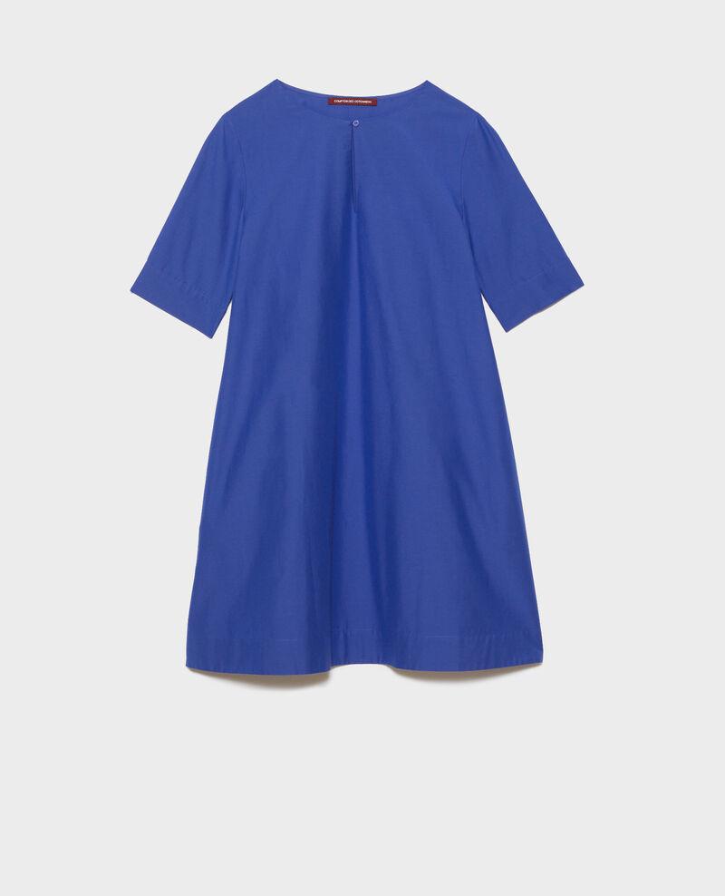Short cotton and silk dress Royal blue Nerniere
