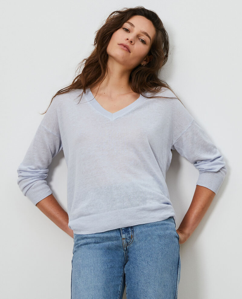 Linen and organic cotton jumper Heather Leonotis