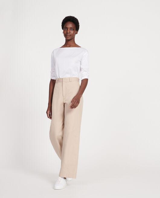Egyptian cotton T-shirt OPTICAL WHITE