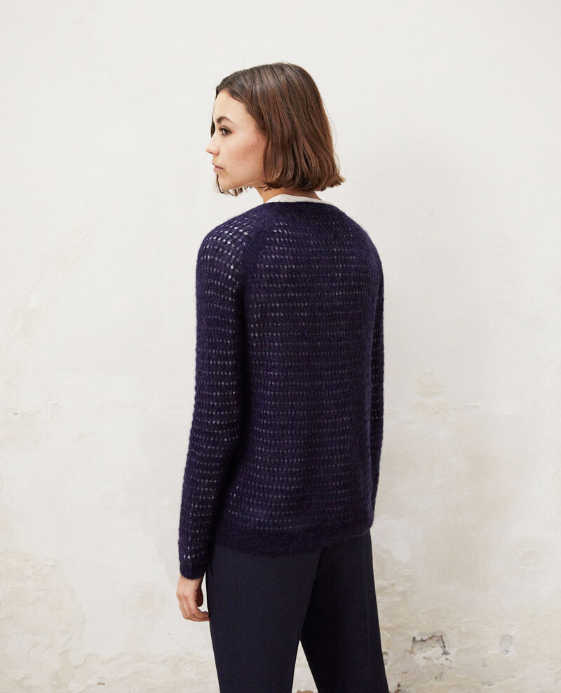 Novelty knit cardigan Ink navy Isidore