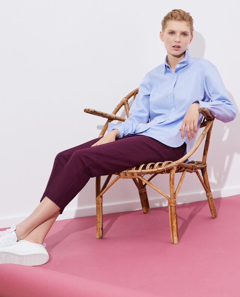 Supima cotton boyfriend shirt Classic blue Mynde