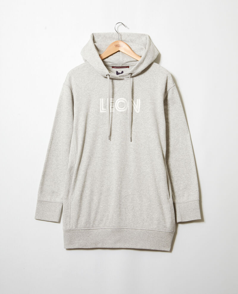 Embroidered Léon sweatshirt Heather gr/ow Inou