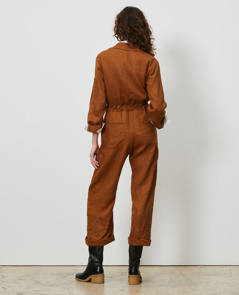 Long linen jumpsuit Monks robe Lachassain