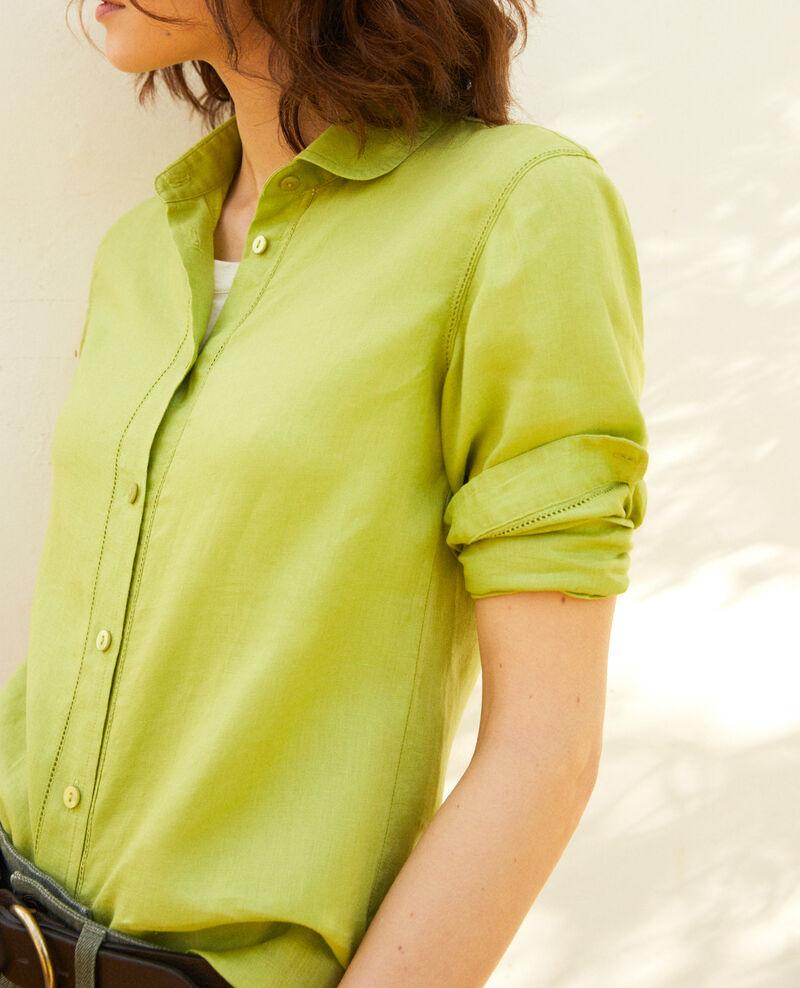 Linen shirt Lime green Igram