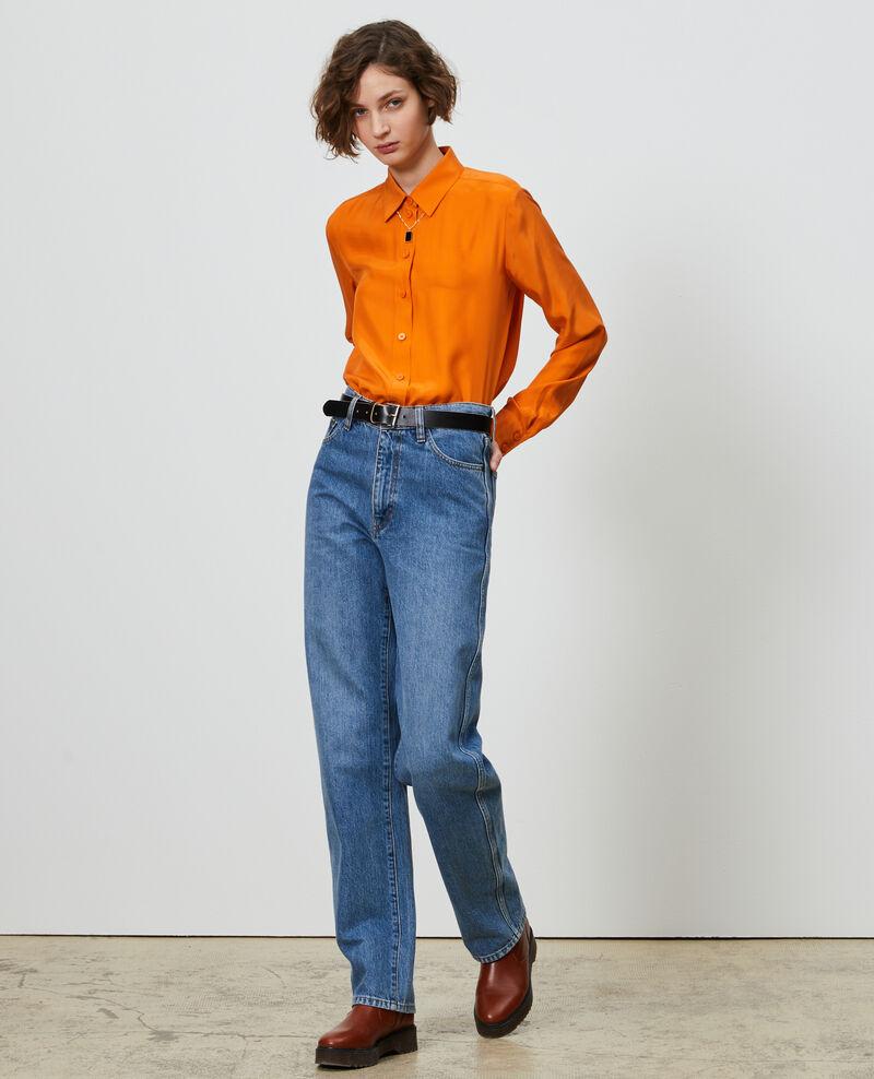 REGULAR - Loose high-waisted jeans Vintage wash Nastage