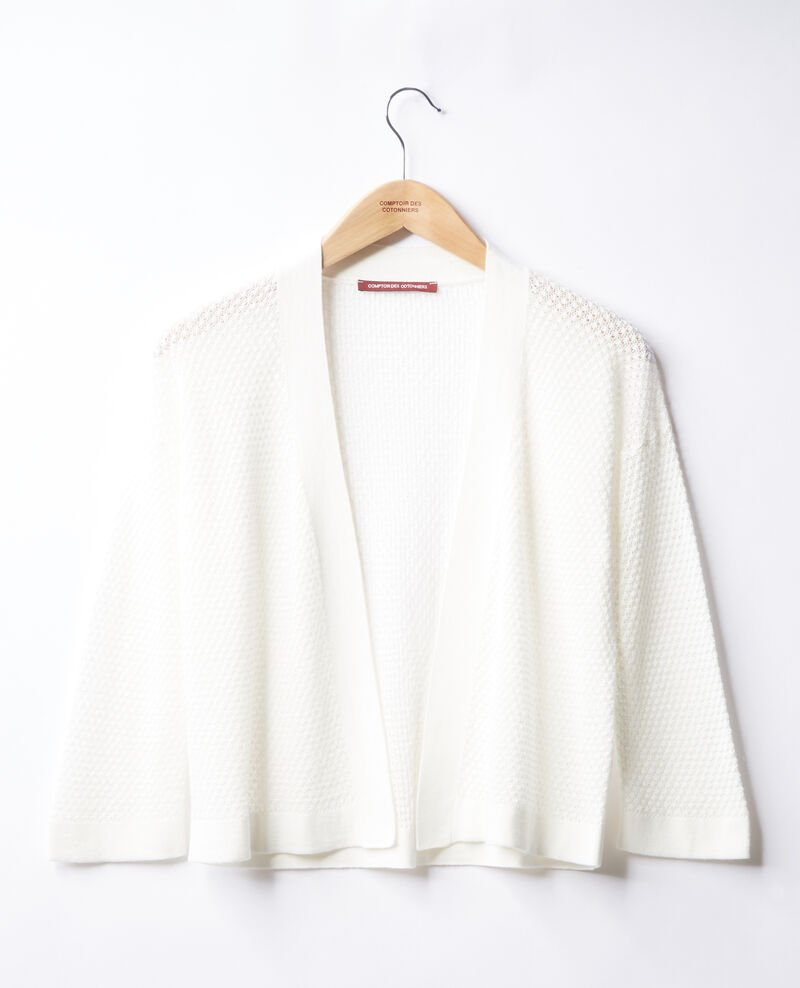 Open-knit cardigan White Fortunee