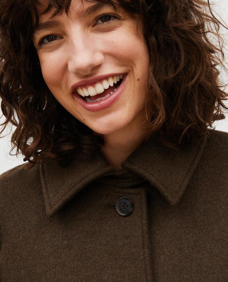 Loose wool and cashmere coat Kaki Madriat