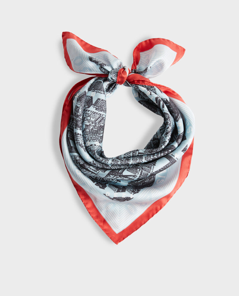 Square silk scarf Forget me not Mamap