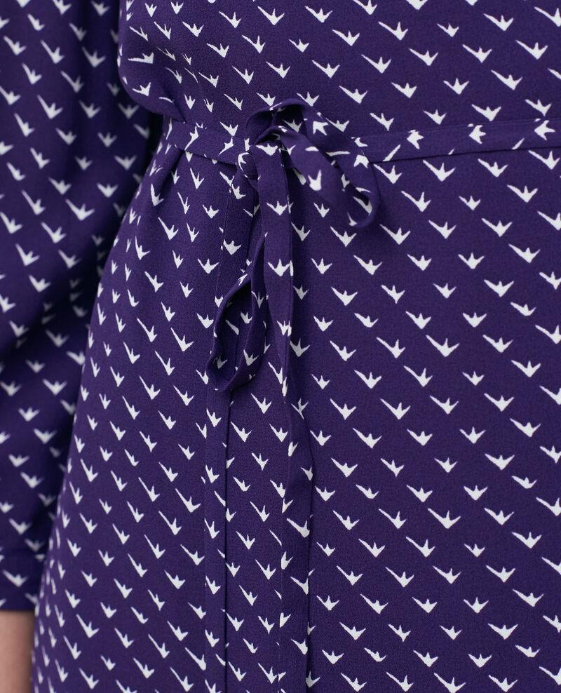 Printed wrap dress Birdy acai Piremonta
