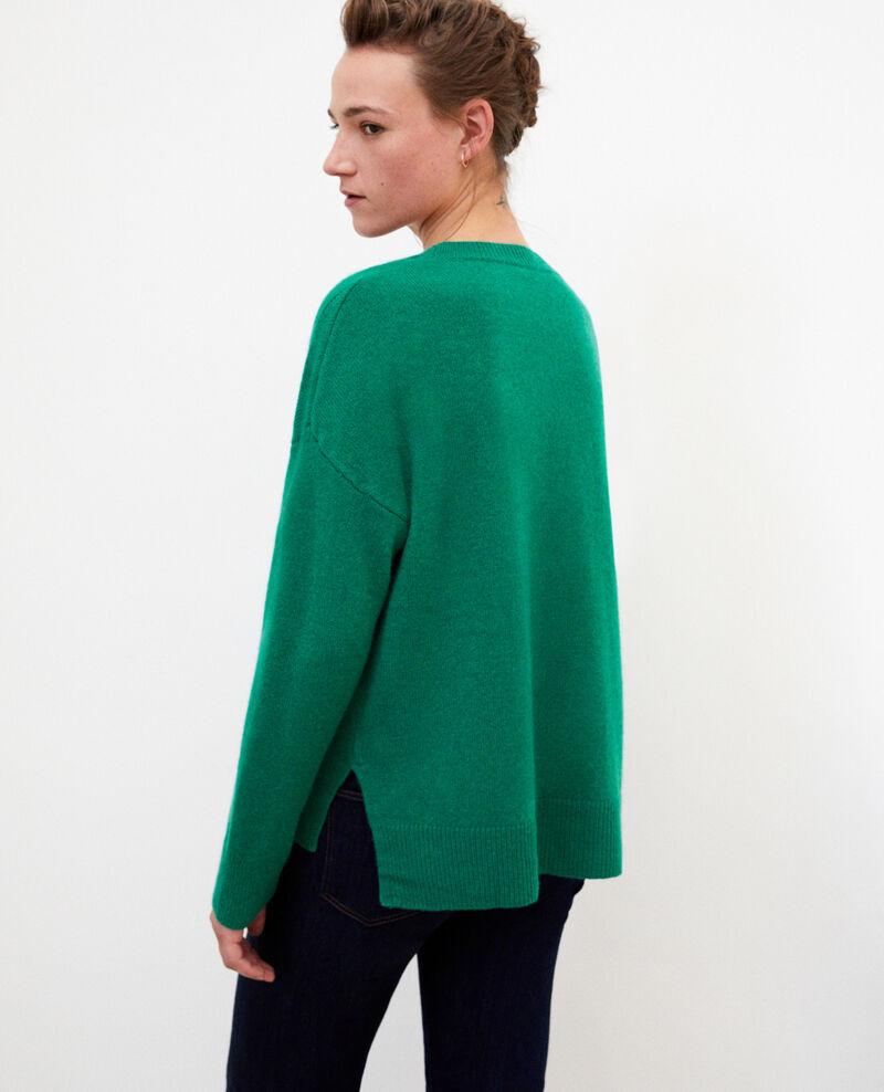 Cashmere jumper Ultra green Geraldine