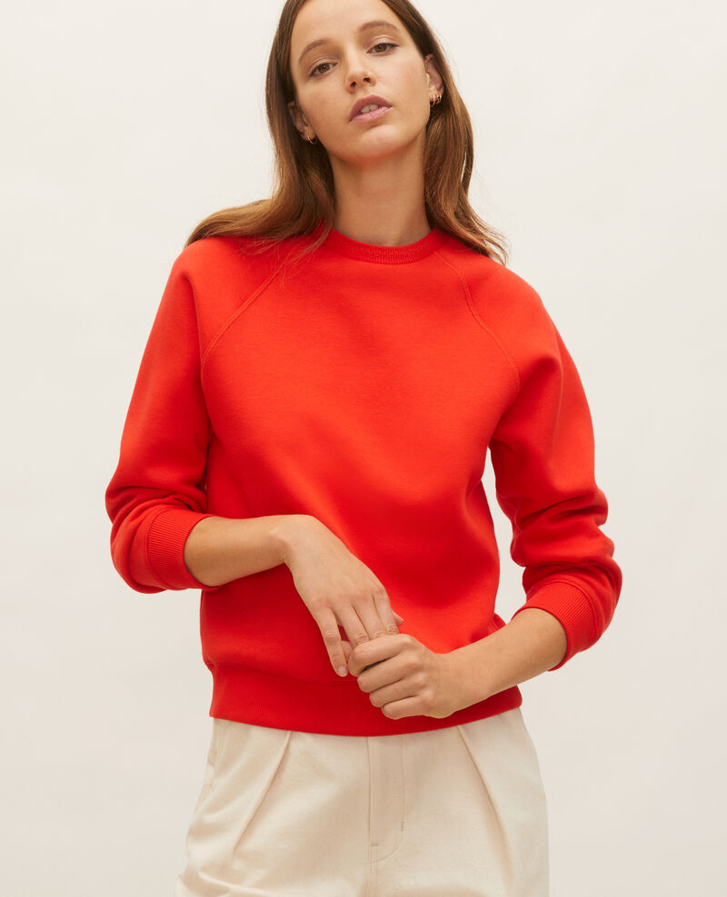 Fleece sweatshirt Fiery red Lison
