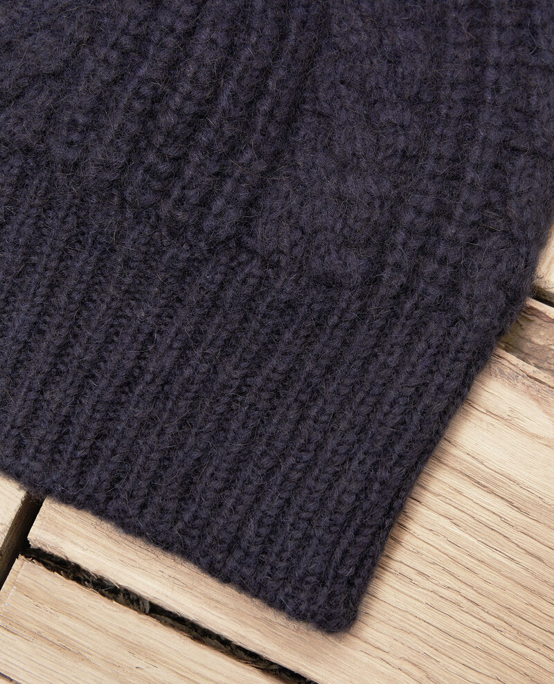Cable-knit beanie Dark navy Jibonnet