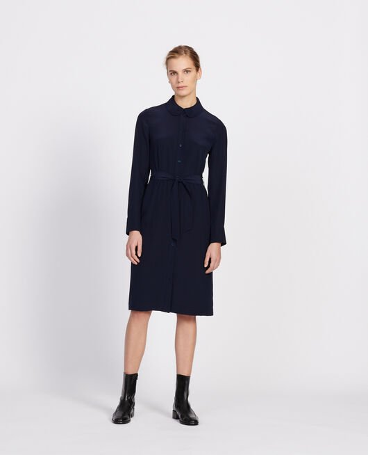 Loose midi dress MARITIME BLUE