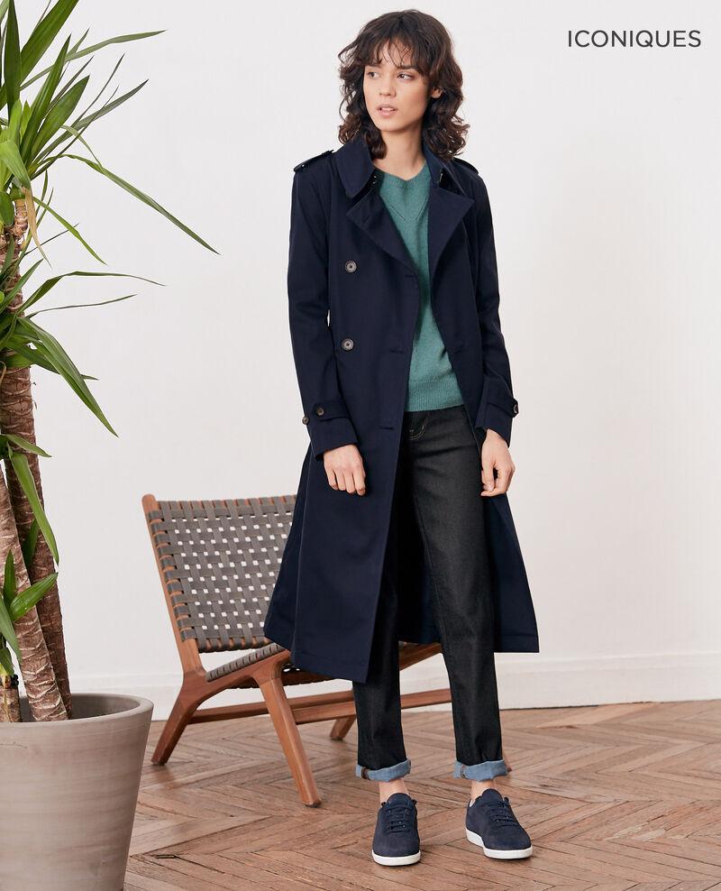 Iconic fit Trench coat Navy Fadja