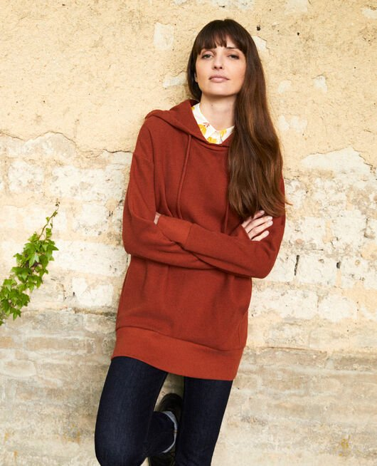 Hooded sweatshirt BRANDY BROWN