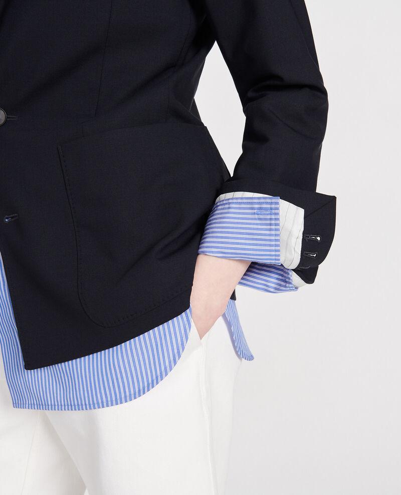 Wool blazer Dark navy Luscadi