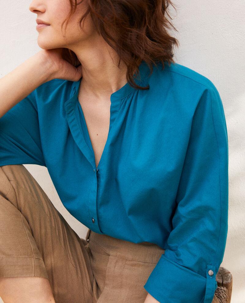 Round neck blouse Ocean depth Ianta