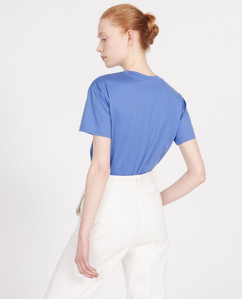 Classic egyptian cotton t-shirt Amparo blue Lirous