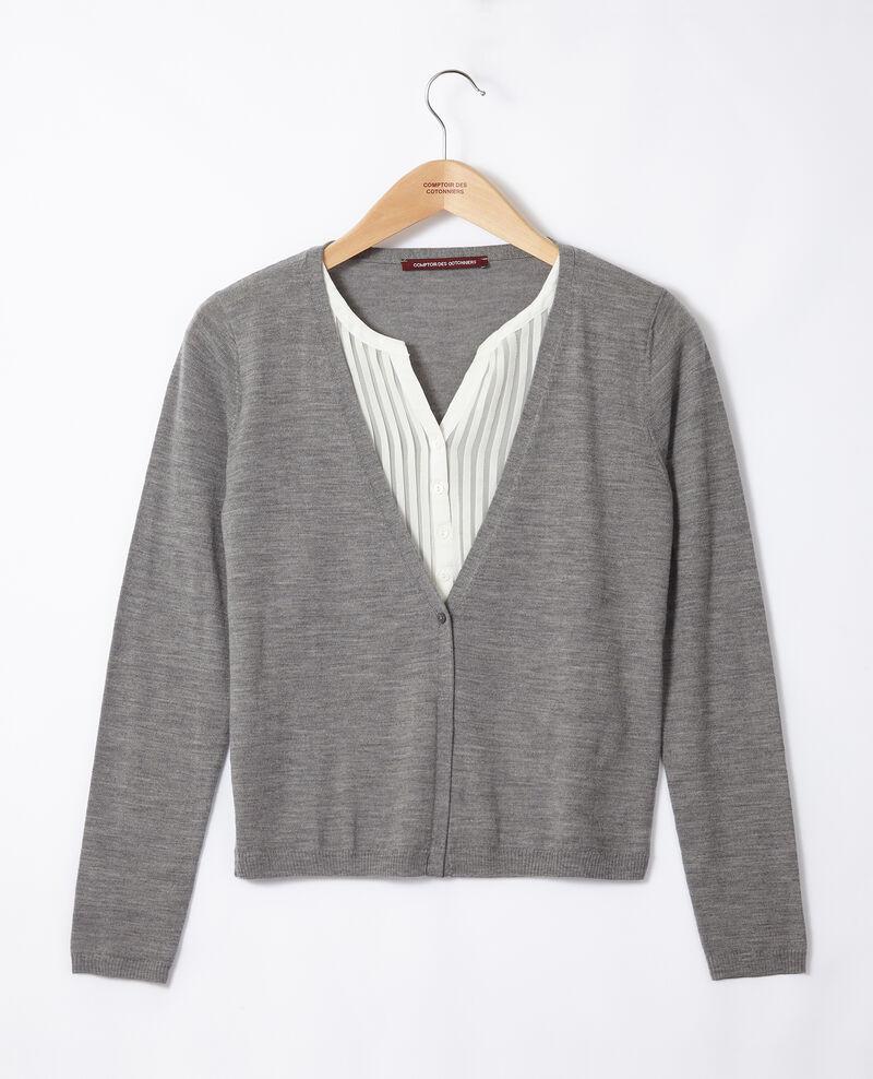 Trompe-l'œil cardigan-blouse Grey Gapristi
