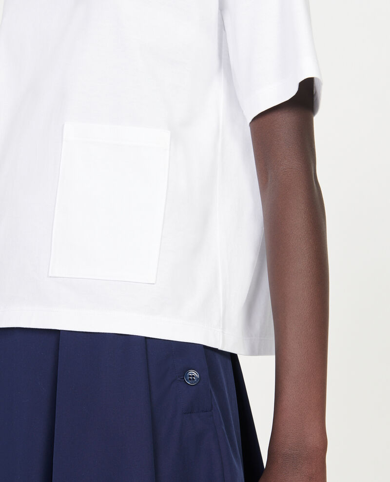 Mercerised cotton Oversize t-shirt Optical white Lexana