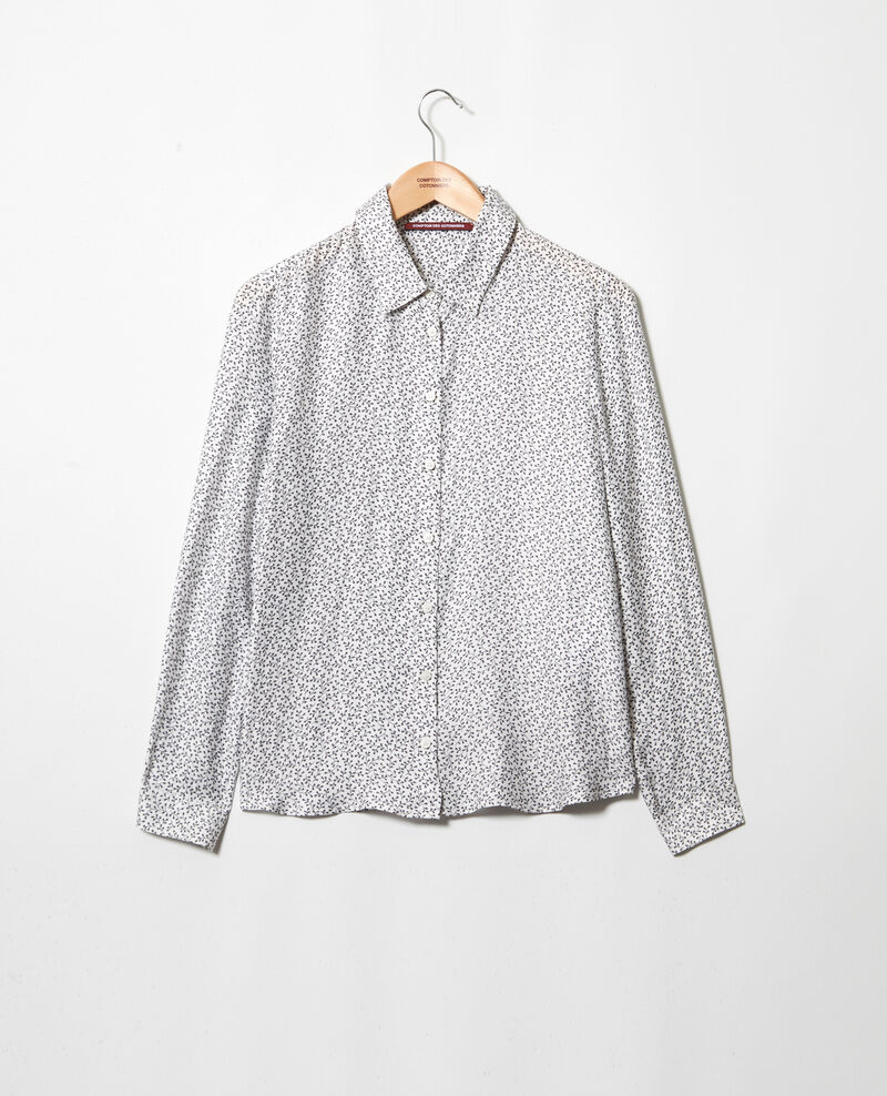 Straight-cut shirt Honey off white Iclimat
